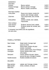 Menu Ô3D Délices & Douceurs Dieppois - Les sandwichs, les paninis,.....