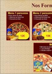 Menu Délice pizza - Les menus délice pizza
