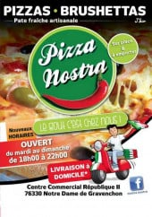 Menu Pizza Nostra - Carte et menu de la pizza Nostra à Notre Dame de Gravenchon
