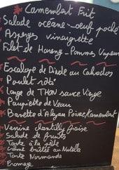 Menu Le Flaubert - Salade, asperge...