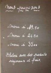 Menu La Table d'Agnès - Les menus, entrées, plats et glaces
