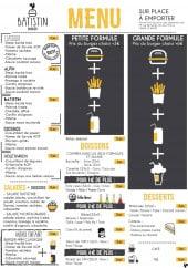 Menu Batistin Burger - Menu à la carte