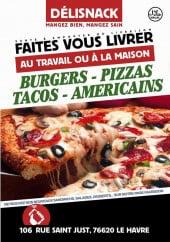 Menu Délisnack - Carte et menu Délisnack Le Havre