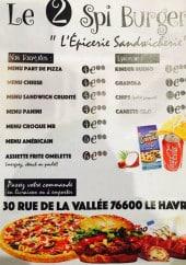 Menu Le 2 Spi Burger - Formules et épicerie