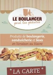 Menu Le Boulanger Perd Les Pédales - Carte et menu Le Boulanger Perd Les Pédales Le Havre