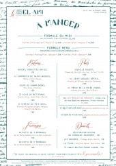 Menu Le Bel Ami - formules, entrées, plats...