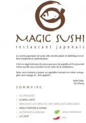 Menu Magic Sushi - Carte et menu Magic Sushi Nemours