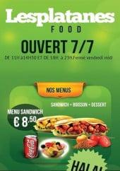 Menu Les Platanes food - Carte et menu Les Platanes food Ferrieres