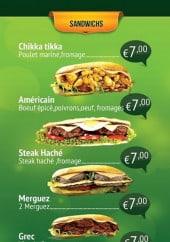 Menu Les Platanes food - Les sandwiches