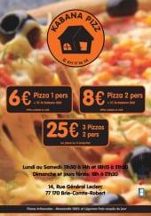 Menu Kabana Pizz - Carte et menu Kabana Pizz Brie Comte Robert