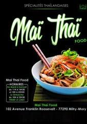 Menu Mai Thai Food - Carte et menu Mai Thai Food Mitry Mory