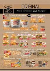 Menu Chic And Blo - Les burgers,..