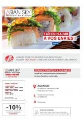 Menu Asian Sky - Carte et menu, Asian Sky, Ozoir la Ferriere