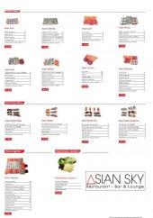 Menu Asian Sky - Les menus