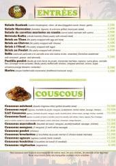 Menu Eat Couscous - Entrées et couscous