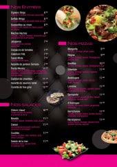 Menu Iro - Les entrées, salades et pizzas