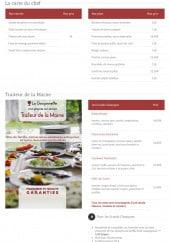 Menu La goujonnette - Les entrées, plats et grands classiques