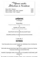 Menu Restaurant Le Tabu - Les formules menus, les apéritifs et les entrées