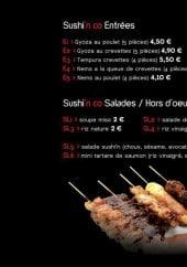 Menu Sushi & CO - Les entrées, les salades et les hors d'oeuvre