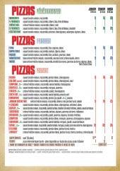 Menu Le Comptoir - Pizzas