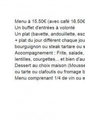 Menu Chez Antoinette - Les formules
