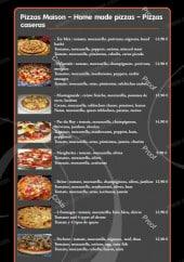 Menu Le Pas du Roy - Les pizzas