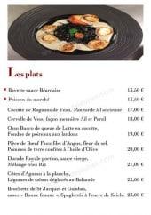 Menu Chez Martin - Les plats