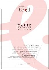 Menu La Maison du Boeuf - Carte et menu La Maison du Boeuf Rambouillet