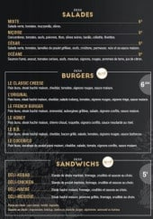 Menu L'Olivier - Salades, burgers, sandwiches,...