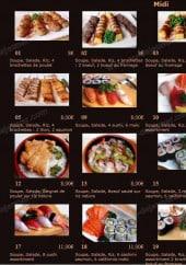 Menu Sashimi Sushi - les midi