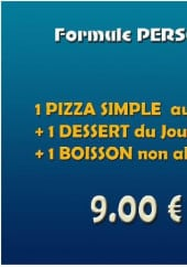 Menu Welcome Pizza - la formule perso