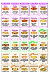 Menu Family pizza - Les pizzas