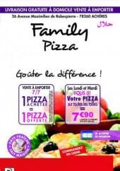 Menu Family pizza - Carte et menu Family pizza Acheres