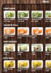 Menu Happy Sushi - Les makis