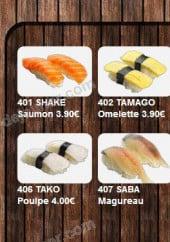 Menu Happy Sushi - Les sushis