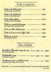 Menu Le Vérsuvio - Les pastas à emporter et vins