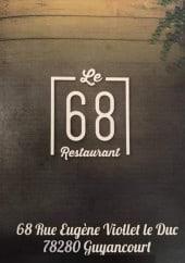 Menu Le 68 - Carte et menu Le 68 Guyancourt