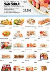 Menu To sushi - Les sélection du chef