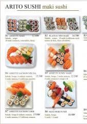 Menu Arito Sushi - Les maki sushi