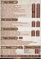Menu Le Chalet A Pizza - pizzas, panini, boissons....