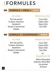 Menu L'Idéal des Gourmands - Formules