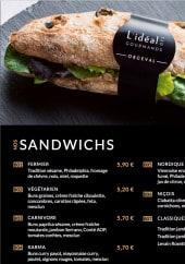 Menu L'Idéal des Gourmands - Sandwiches
