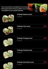 Menu Ayumi Sushi -  printemps roll