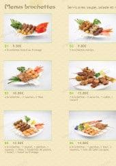 Menu Akashi - les menus brochettes