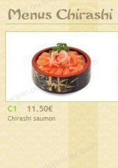 Menu Akashi - les menus chirashis