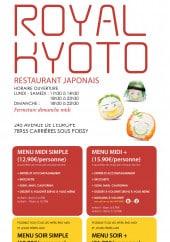 Menu Royal kyoto - Carte et menu Royal kyoto Carrieres Sous Poissy