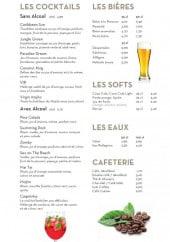 Menu So'Lodge - Les cocktails, bières,...