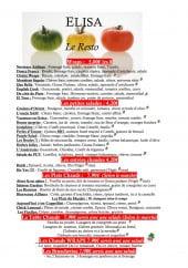 Menu Elisa - Wrap, salades, entrées,...