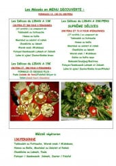 Menu La Braisière de Gaby - Les Mézzés en menu découverte