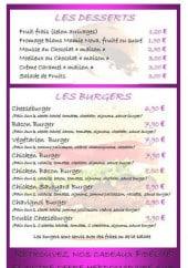 Menu Le Grill d'Oncle Sam - Les desserts, les burgers et bruschettas